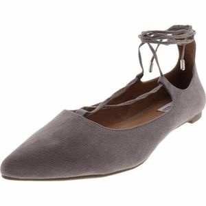 Steve Madden Lecrew  Lace-Up Pointed Toe Flats